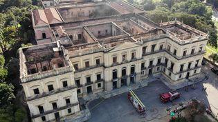 Les décombres encore fumants du Musée national de Rio de Janeiro (4 septembre 2018)  (Chine Nouvelle / SIPA)