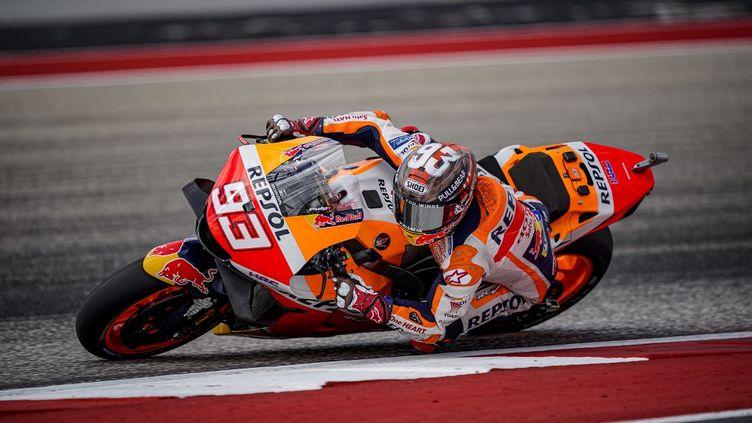 Marc Marquez lors du Grand Prix des Amériques, du 1e au 3 octobre 2021, à Austin. (GIGI SOLDANO / GIGI SOLDANO)