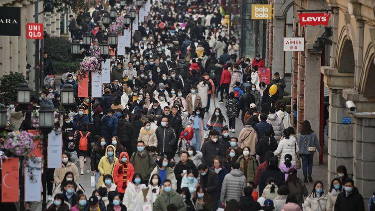 Les rues de Wuhan, l'épicentre de la pandémie, le 1er janvier 2021 (NOEL CELIS / AFP)