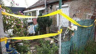 La maison abandonnée du Hérie-la-Viéville (Aisne), le 30 mai 2018, où le corps du petit Tom, 9 ans, a été retrouvé. (MAXPPP)