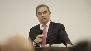 L'ancien dirigeant de l'alliance Renault-Nissan Carlos Ghosn, lors d'une conférence de presse à Beyrouth (Liban), le 8 janvier 2020. (JOSEPH EID / AFP)
