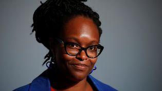 Sibeth Ndiaye,alorsporte-parole du gouvernement, lors d'un compte-rendu du Conseil des ministres, à Paris, le 17 juin 2020. (GONZALO FUENTES / AFP)
