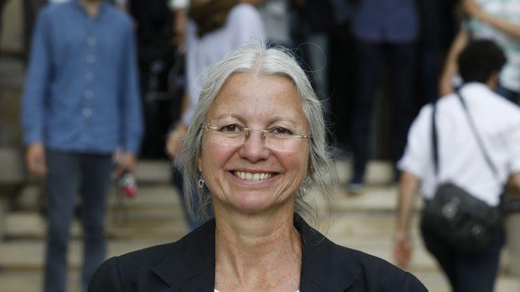 La députée LREM de l'Oise, Agnès Thill, le 27 juin 2017, pour son premier jour à l'Assemblée nationale à Paris à l'occasion de sa rentrée parlementaire. (MAXPPP)