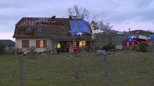 Intempéries : un village des Pyrénées-Atlantiques balayé par une tornade (CAPTURE D'ÉCRAN FRANCE 3)
