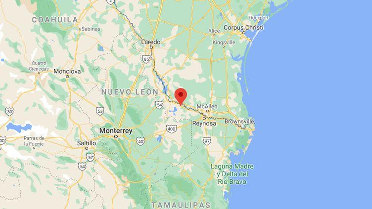 La ville de Carmago, où ont été retrouvés les corps, se trouve à la frontière avec les Etats-Unis, dans l'est du Mexique. (GOOGLE MAPS)
