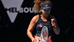 La Japonaise Naomi Osaka lors de la demi-finale de l'Open d'Australie contre Serena Williams à Melbourne le 18 février 2021 (PAUL CROCK / AFP)