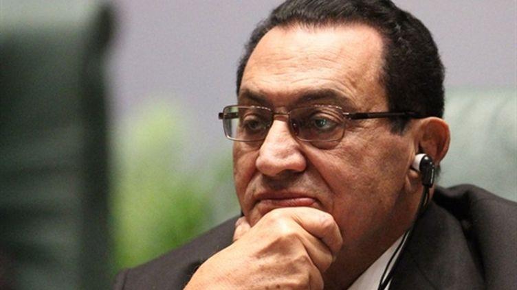 Le président égyptien Hosni Moubarak, fin janvier 2011 au Caire (AFP - Khaled Desouki)