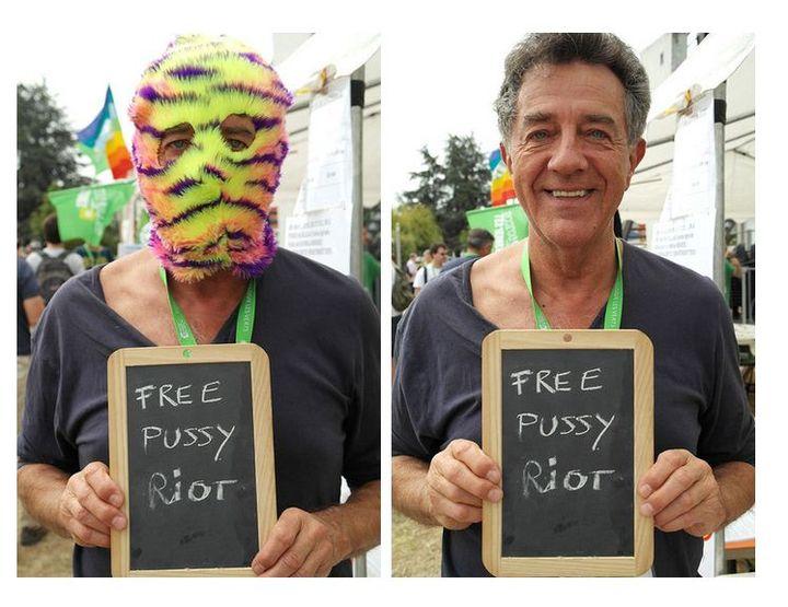 Le député européen Yves Cochet, lors des Journées d'été d'EELV à Poitiers. (FREE-PUSSY-RIOT-EELV.TUMBLR.COM)
