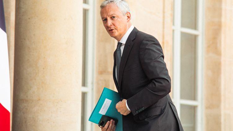 Le ministre de l'Economie Bruno Lemaire à l'Elysée le 8 septembre 2021. (CHRISTOPHE MICHEL / HANS LUCAS)