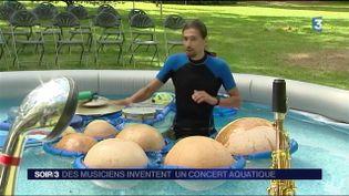 Jean-Philippe Carde, fondateur de la compagnie Aquacoustique (France 3)