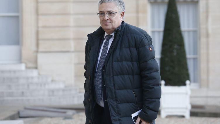 Jaques Creyssel, le président de laFédération du commerce et de la distribution (FCD), le 12 décembre 2018. (LEON TANGUY / MAXPPP)