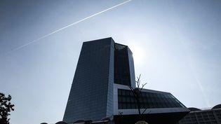 Le siège de la Banque centrale européenne à Francfort (Allemagne), le 14 septembre 2020. (DANIEL ROLAND / AFP)