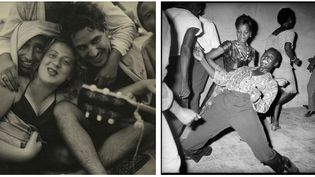 A gauche Sid Grossman, Coney Island, 1947. Avec l'aimable autorisation de la Howard Greenberg Gallery - à droite Malick Sidibé, Regardez-moi !, 1962. Avec l'aimable autorisation de l'artiste et de la galerie MAGNIN-A, Paris  (Rencontres d'Arles)