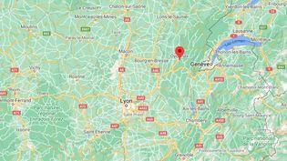 Capture d'écran montrant la ville d'Oyonnax (Ain), où des violences urbaines ont eu lieu dans la nuit du 6 au 7 novembre 2020, faisant trois blessés parmi les policiers. (GOOGLE MAPS)