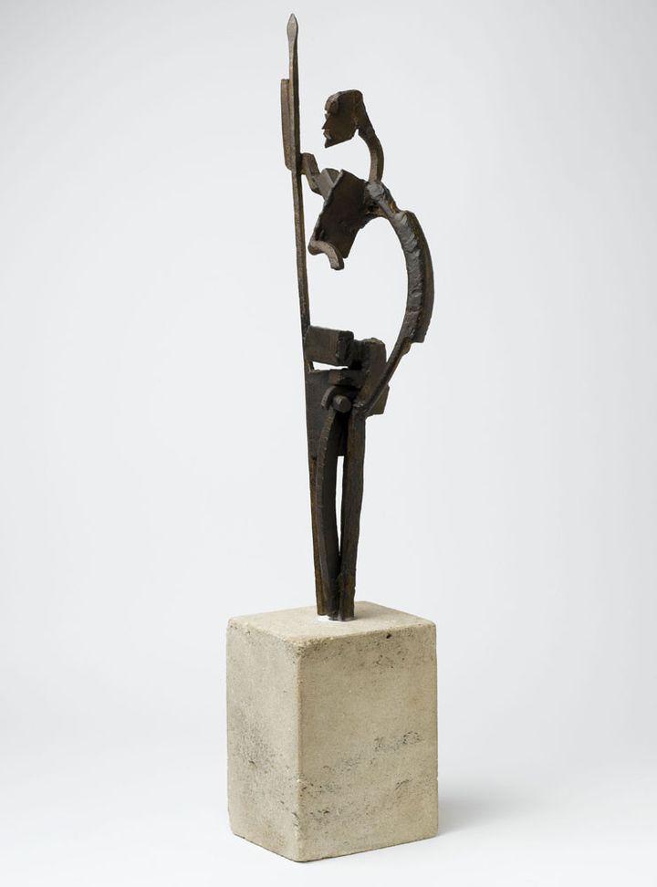"""JulioGonzález, """"Don Quichotte"""", Paris, Centre Pompidou - Musée national d'art moderne - Centre de création industrielle Don de Mme Roberta González en 1966  ( Centre Pompidou, MNAM-CCI, Dist. RMN-Grand Palais / Philippe Migeat)"""