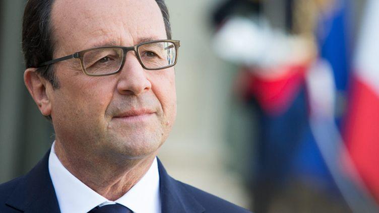 """(François Hollande a accepté de répondre aux questions dans le cadre d'une émission """"face aux Français"""" © MAXPPP)"""