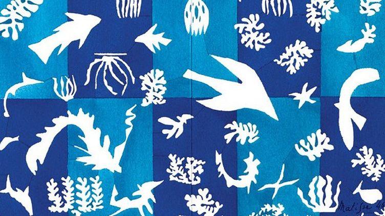 Tapisserie en laineHenri Matisse,Polynésie la mer, 1948, Collection de la ville de Beauvais à voir au Musée de la Nacre de Méru   (Succession H. Matisse)