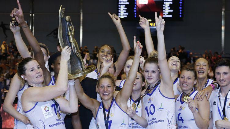 Montpellier remporte la Coupe de France de basket face à Bourges (THOMAS SAMSON / AFP)