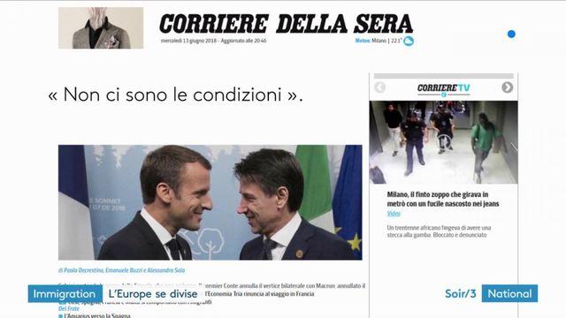 """Rencontre incertaine entre Macron et Conte à cause de """"l'Aquarius"""""""