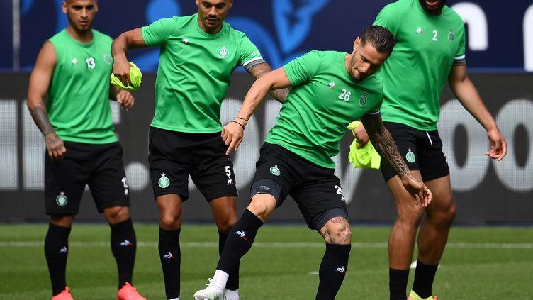 Les Stéphanois à l'entraînement avant la finale de Coupe de France (FRANCK FIFE / AFP)