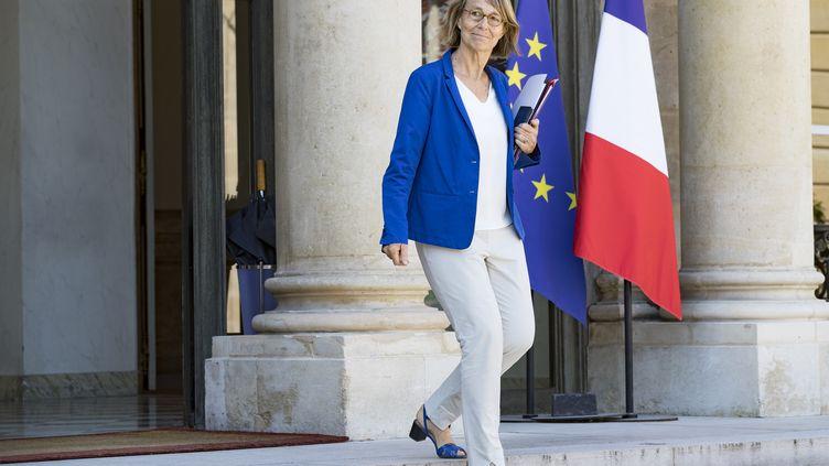La ministre de la Culture, Françoise Nyssen, quitte l'Elysée, le 3 août 2018. (GEOFFROY VAN DER HASSELT / AFP)
