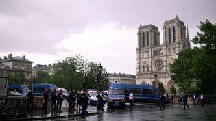 Le parvis de la cathédrale Notre-Dame de Paris le 6 juin 2017. (MARTIN BUREAU / AFP)