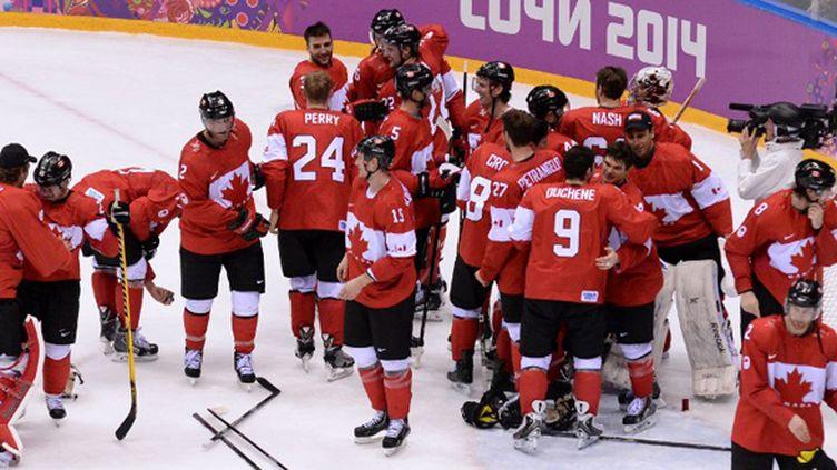 Le Canada, maître du palet ! (YURI KADOBNOV / AFP)