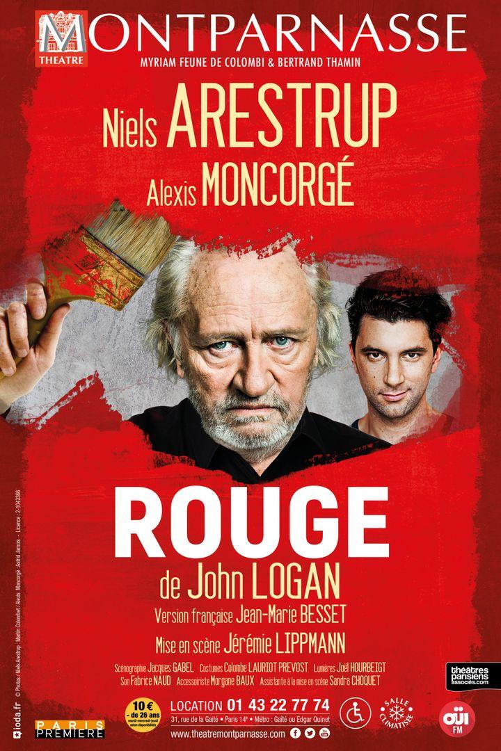 """Affiche de """"Rouge"""" (Théâtre Montparnasse)"""