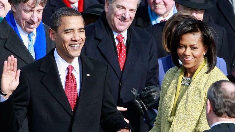 Le président Obama prête serment le 20 janvier 2009. (MARK WILSON / GETTY IMAGES NORTH AMERICA / AFP)