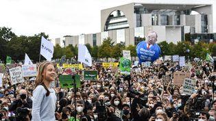 L'activiste suédoise Greta Thunberg à Berlin (Allemagne), le 24 septembre 2021. (TOBIAS SCHWARZ / AFP)