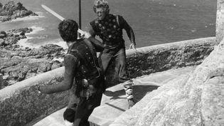 Tournage deThe Vikingsde Richard Fleischer (1958) - Fort La Latte (Côte-d'Armor) (BAVARIA FILM/UNITED ARTISTS / ARCHIVES DU 7EME ART)