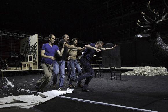 """""""Le Roi Lear"""", mise en scène d'Olivier Py  (Christophe Raynaud de Lage/Festival d'Avignon)"""