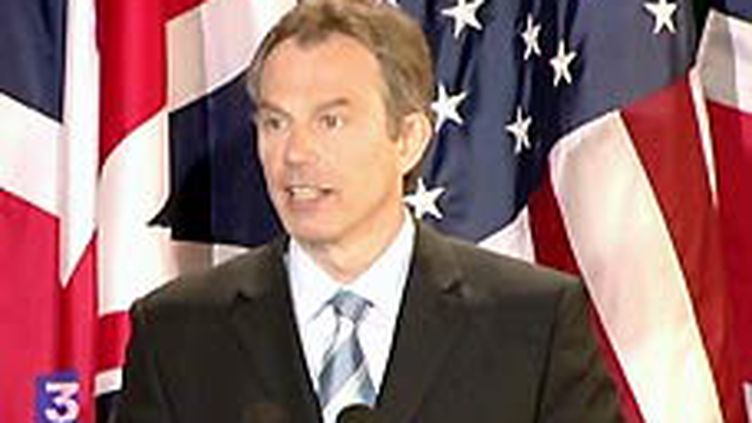 Le premier ministre britannique,Tony Blair (8-4-2003) (© France 3)