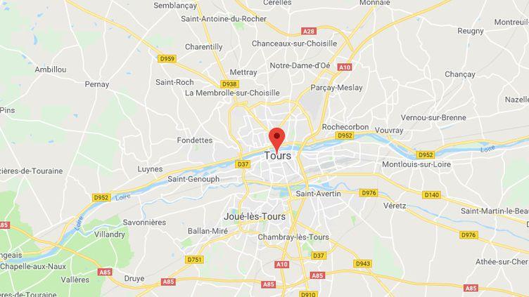 Tours en Indre-et-Loire (GOOGLE MAPS)