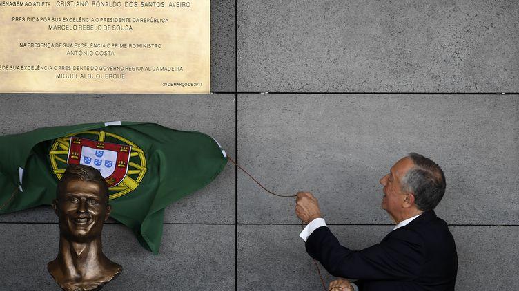 Cristiano Ronaldo a désormais un aéroport à son nom. (FRANCISCO LEONG / AFP)