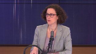 Emmanuelle Wargon, ministre déléguée chargée du Logement, invitée de franceinfo lundi 5 avril 2021.  (FRANCEINFO / RADIO FRANCE)
