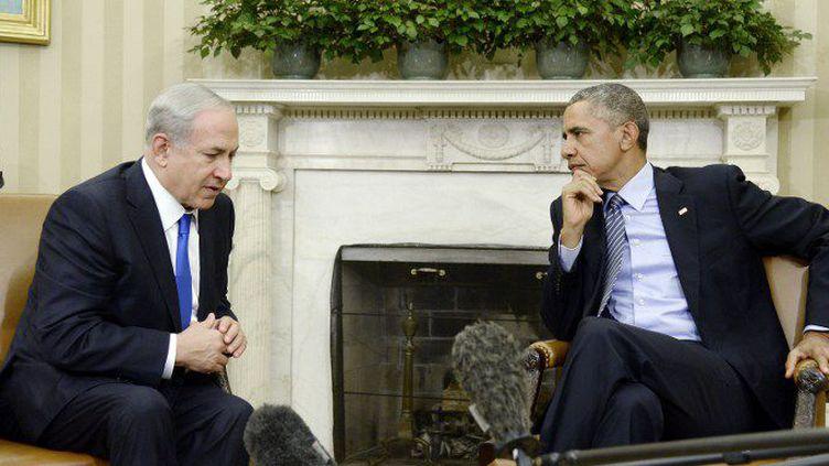 Lors de leur rencontre, le 9 novembre à la Maison Blanche, Benjamin Netanyahu a tenté d'arracher à Barack Obama une reconnaissance de l'occupation du Golan par Israël en contrepartie de l'accord sur le nucléaire avec l'Iran. (Olivier Doulier/DPA Picture-Alliance/AFP)