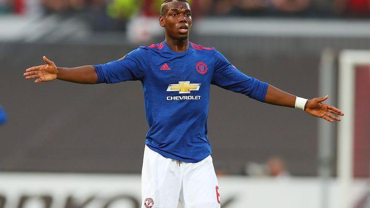 Paul Pogba en Europa League avec Manchester United face à Feyenoord. (KIERAN MCMANUS / BACKPAGE IMAGES LTD)