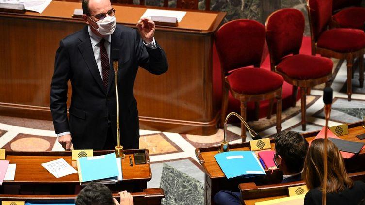 Le Premier ministre Jean Castex à l'Assemblée nationale à Paris, le 24 novembre 2020. (ANNE-CHRISTINE POUJOULAT / AFP)