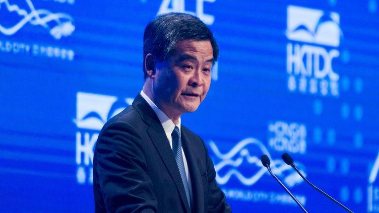 C.Y. Leung, le chef de l'exécutif de Hong Kong, le 19 janvier 2015. (DYCJ / IMAGINECHINA / AFP)