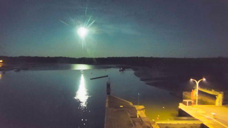 Capture d'écran de la webcam du port d'Arzal (Morbihan). (VIEWSURF.COM)