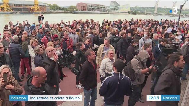 Incendie d'une usine Seveso : inquiétude et suspicion à Rouen