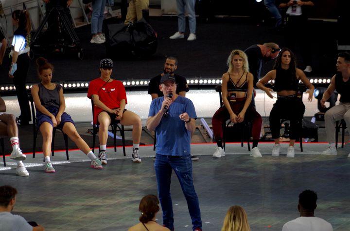 Le chanteur Garou en répétition au stade Roland Garros, le 21 juin 2021. (JEREMIE LAURENT-KAYSEN)