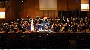 Le New York Philharmonic Orchestra sur scène à New York le 9 février 2016, lors d'un concertde célébration du Nouvel An chinois (CHINE NOUVELLE / SIPA / XINHUA)