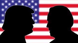 A gauche, le candidat républicain Donald Trump. A droite, le candidat démocrate Joe Biden. Ils s'affrontent à la présidentielle américaine, le 3 novembre 2020. (PICTURE ALLIANCE / AFP)
