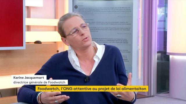Karine Jacquemart, directrice générale de l'ONG Foodwatch, explique pourquoi la nouvelle loi alimentation n'est pas à la hauteur des ambitions initiales d'Emmanuel Macron.