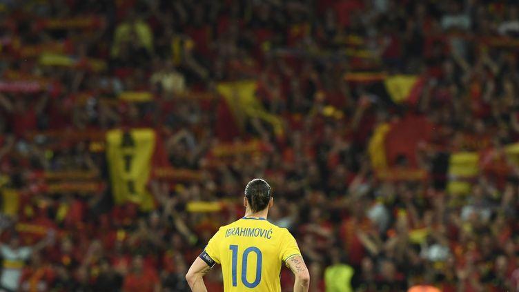 Zlatan Ibrahimovic, l'attaquant de la Suède, a pris sa retraite internationale après l'Euro. (JONATHAN NACKSTRAND / AFP)