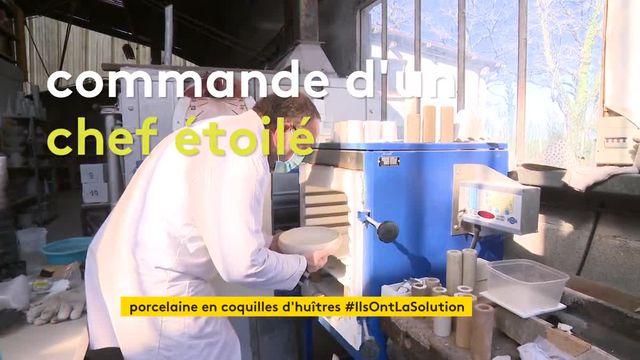 En Vendée, une start-up fabrique de la porcelaine avec des coquilles d'huîtres