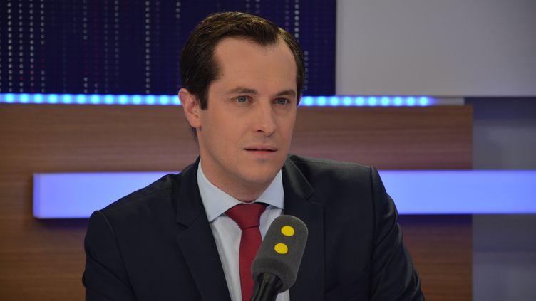 Nicolas Bay, secrétaire général du Front national, directeur de la campagne FN des législatives. (RADIO FRANCE / JEAN-CHRISTOPHE BOURDILLAT)