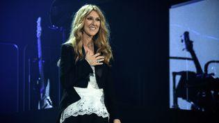 Céline Dion lors d'un concert à l'AccorHotels Arena à Paris le 24 juin 2016. (PHILIPPE LOPEZ / AFP)